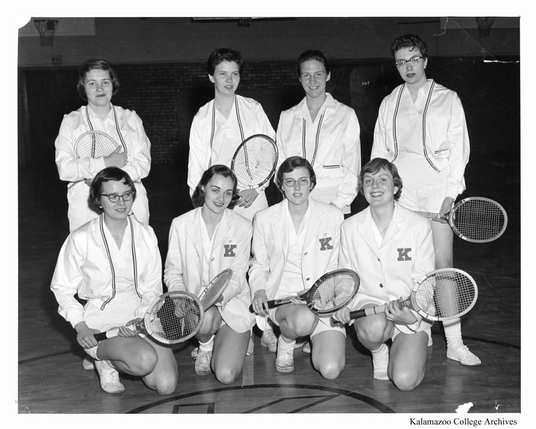 Cache 1958 Womens Tennis Team Kalamazoo College